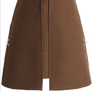 Pocket of Charm Wool-Blend Skirt in Tan